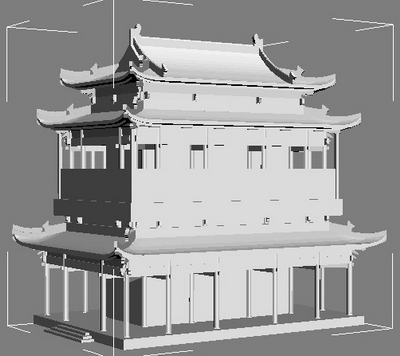 Multi Layer Model Of Ancient Architecture 3d Model