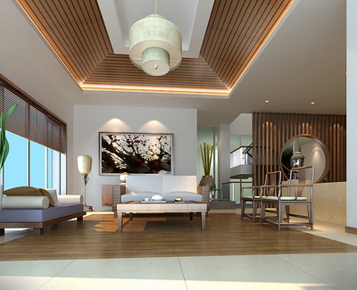 3d model of chinese style living room 3d model download for Living room 3ds max