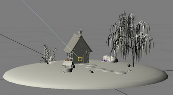 3D model of the yard (max format, with map)