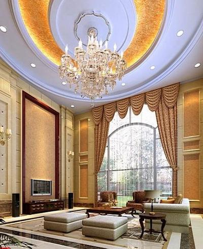 3d model of luxury villa living room 3d model download for Living room designs 3d model