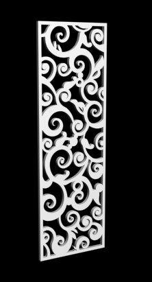 3d Model Of European Style Pattern Hollow Partition 3d