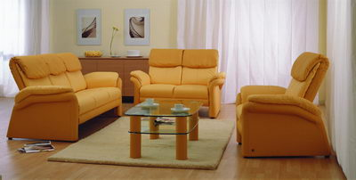 Modern sofa 3D model of the yellow people
