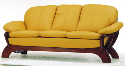 Sofa 3D model over the old yellow