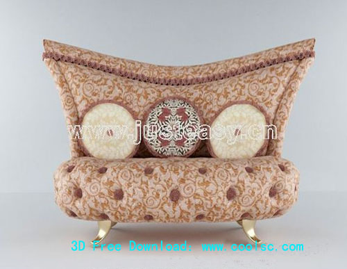 3D model of the classical European style sofa (including materials)