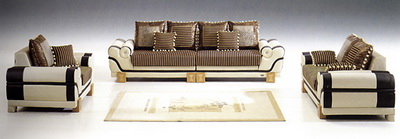 Luxurious brown sofa 3D model (including materials)