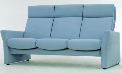 Blue fabric sofa 3D model