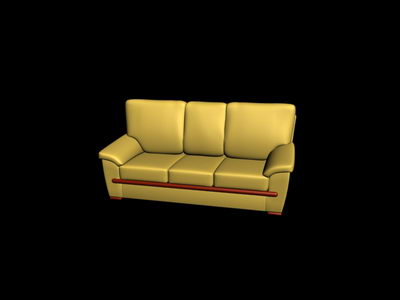yellow and soft sofa