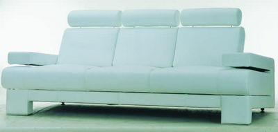 blue and soft cloth sofa
