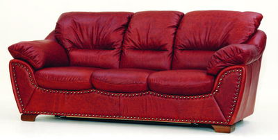 Red colth sofa