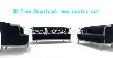 Combined sofa 3D model (including materials)