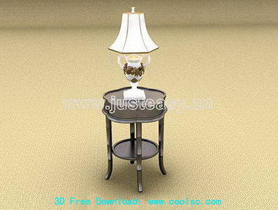 European-style ceramic table lamp 3D Model (including materials)