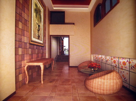 Southeast Asian style reception room 3D model