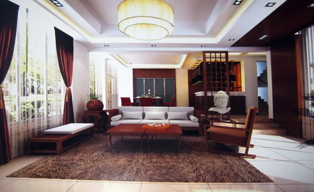 Chinese Wooden living room (including materials)