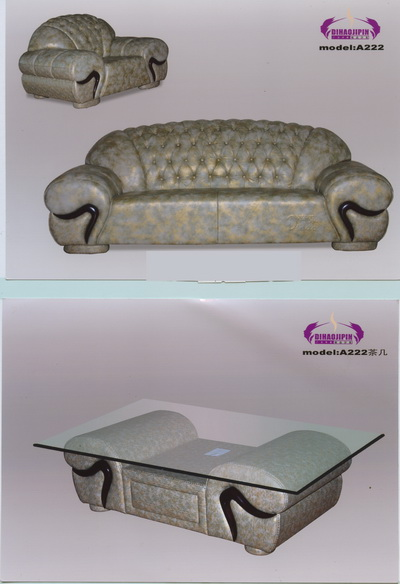 Gray pattern sofa and coffee table home
