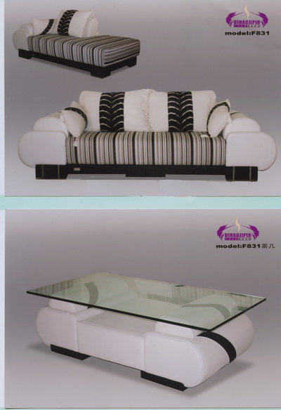 Classic sofa and coffee table 3D Model of Business