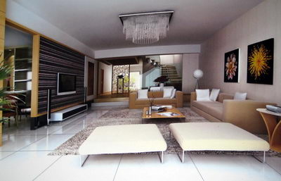 Fashion is dynamic 3D model of the living room (including materials)