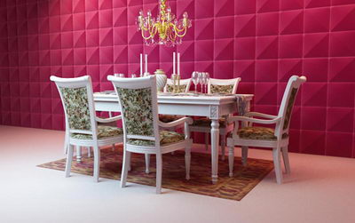 3D Model of European luxury dining tables and chairs