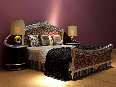Furniture  on Bed  Solid Wood Furniture  Bed  Double Bed  European Style Furniture