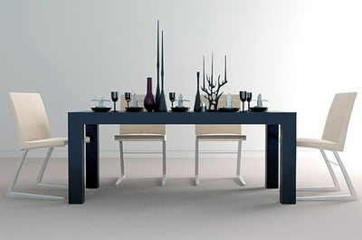 Petty simple tables and chairs 3D Model