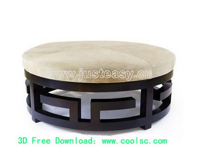 3D Model of Chinese fine small stools