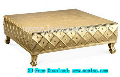 Neoclassical coffee table 3D model (including materials)