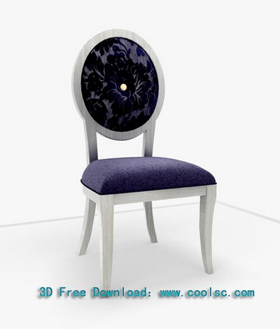 Simple 3D model of the European Round chairs (including materials)