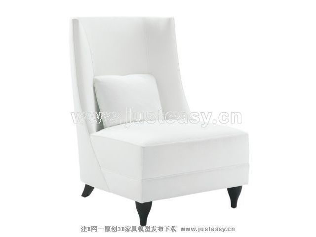 3D Model of sofa white back (including materials)