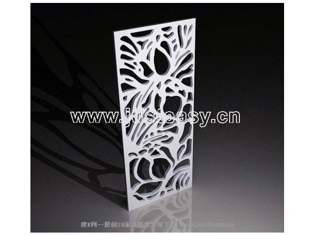 3D model of modern design sculpture grilles (including materials)