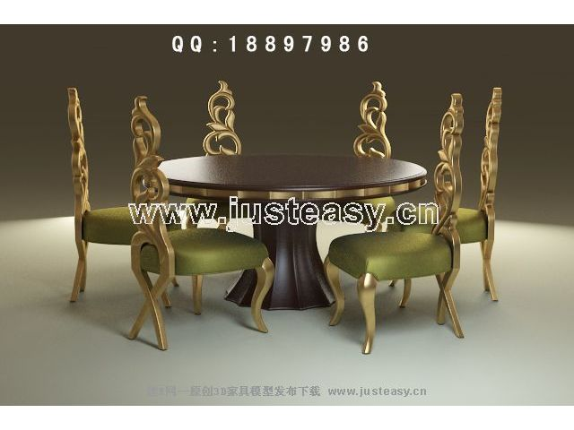European-style round tables and chairs