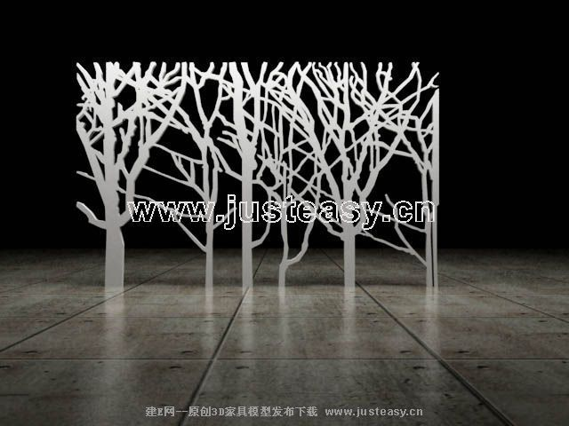 Alternative tree decorations 3D Model of screen (including materials)