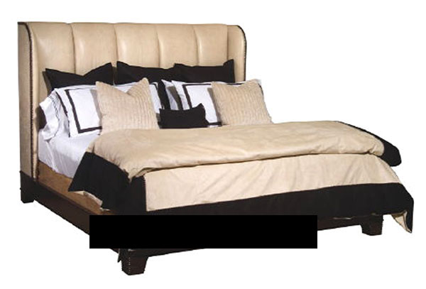 3D Model of European brown leather bed (including materials) 3D ...