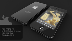 FreeiPhone generation 3D model