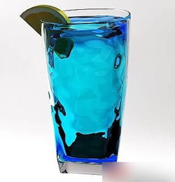 Blue beverage 3D models