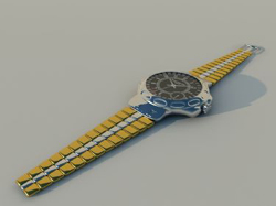 Yellow sports watch 3D models