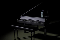 Elegant piano 3D models