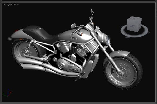 Floor lamps in living room - Taizi Cruise Motorcycle 3d Models 3d Model Download Free
