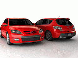 3D model of the red family car