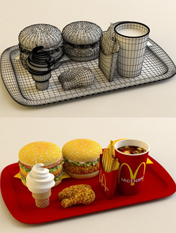 McDonald 3D Models(Including materials)