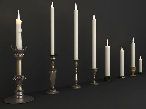 Delicate european-style candles