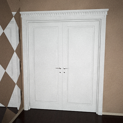 White double-layer door