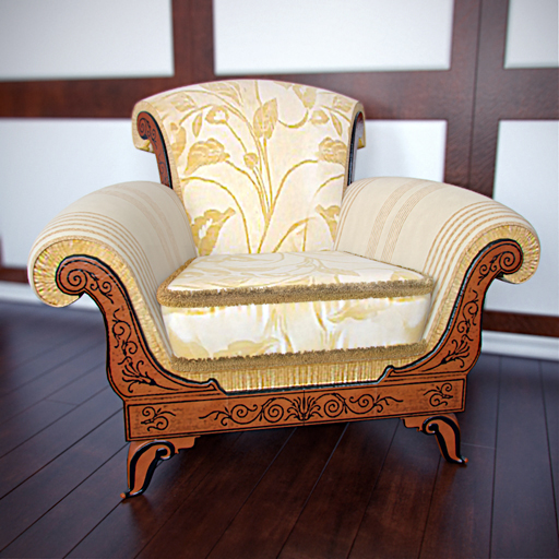 European luxury single sofa chair
