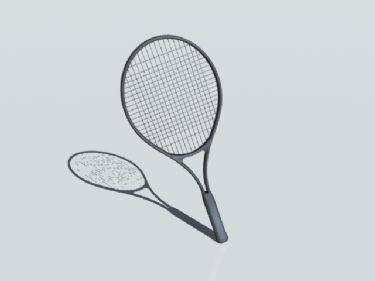 3D Model of badminton racket