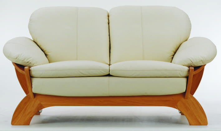 Contracted cloth art sofa double wood bottom 3D models