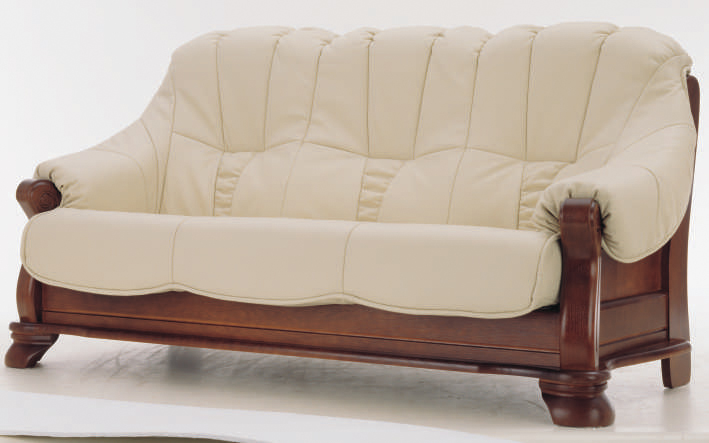 European white people wood bottom leather sofa d models