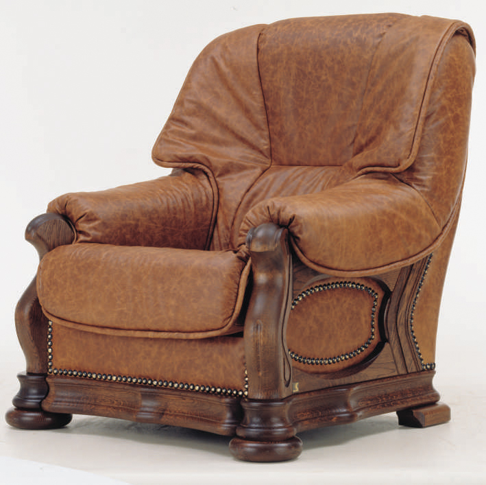 European cowhide odd chair