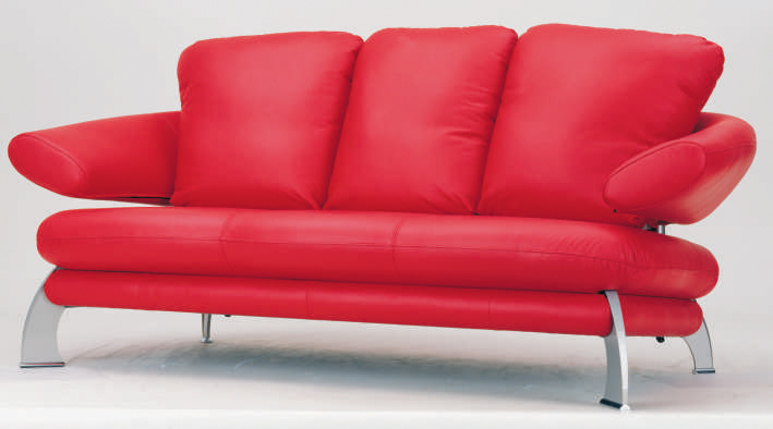 More than the red leather sofa 3D model (including materials)