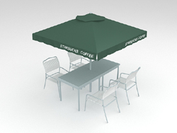Sun umbrellas outdoor rain-cover teahouse 3D models