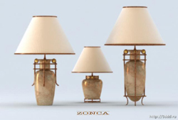 The vase porcelain lamp 3D models