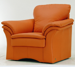 Orange single cloth art sea and soft sofa 3D models (including material)