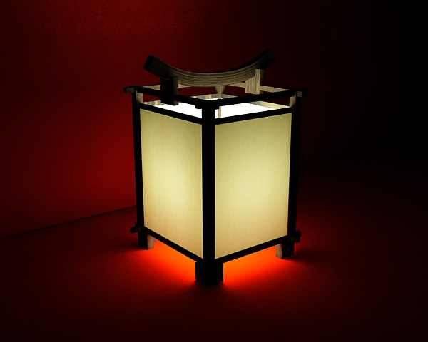 chinese traditional style lamps and lanterns 3d models (including